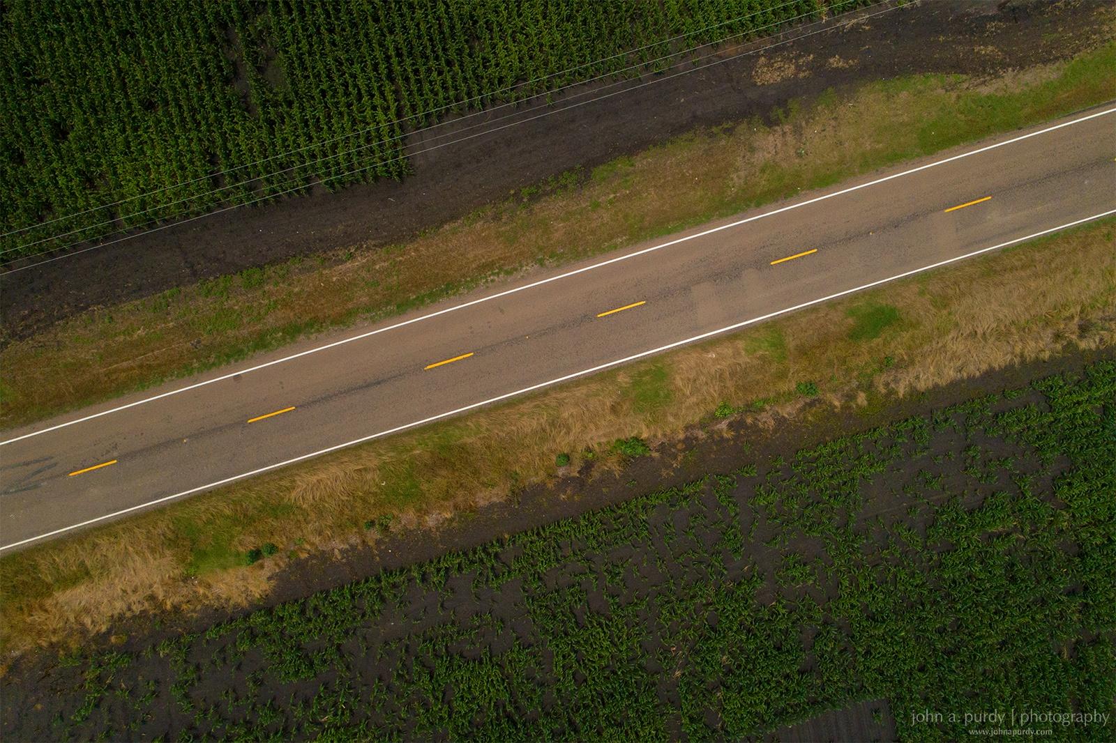 Drone Corn Road 1